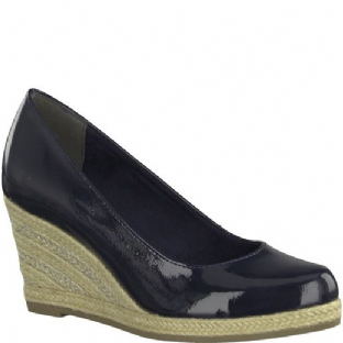 Marco Tozzi 2-2-22440-20 826 Navy Patent Womens Shoes